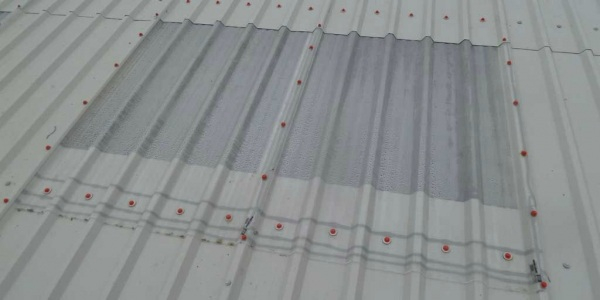 aspestos industrial roof replacement